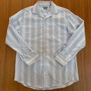 Kenneth Cole Reaction Slim Fit Striped Button Down